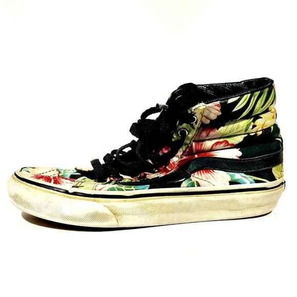 Vans Floral Print Shoe Men's Size 3.5 Women's 5